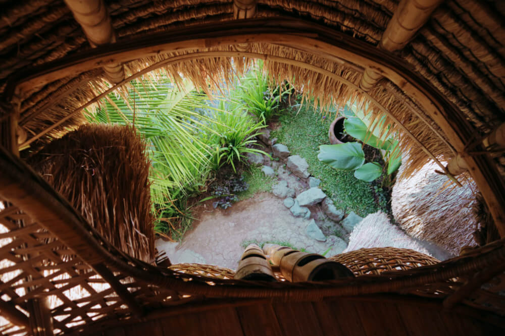 Bamboo nest at Firefly Eco Lodge, Ubud, Bali