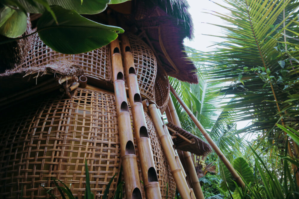 Unusual Places To Stay In Ubud Bali A Bamboo Nest Treehouse In The Ricefields At Firefly Eco Lodge Temples And Treehouses